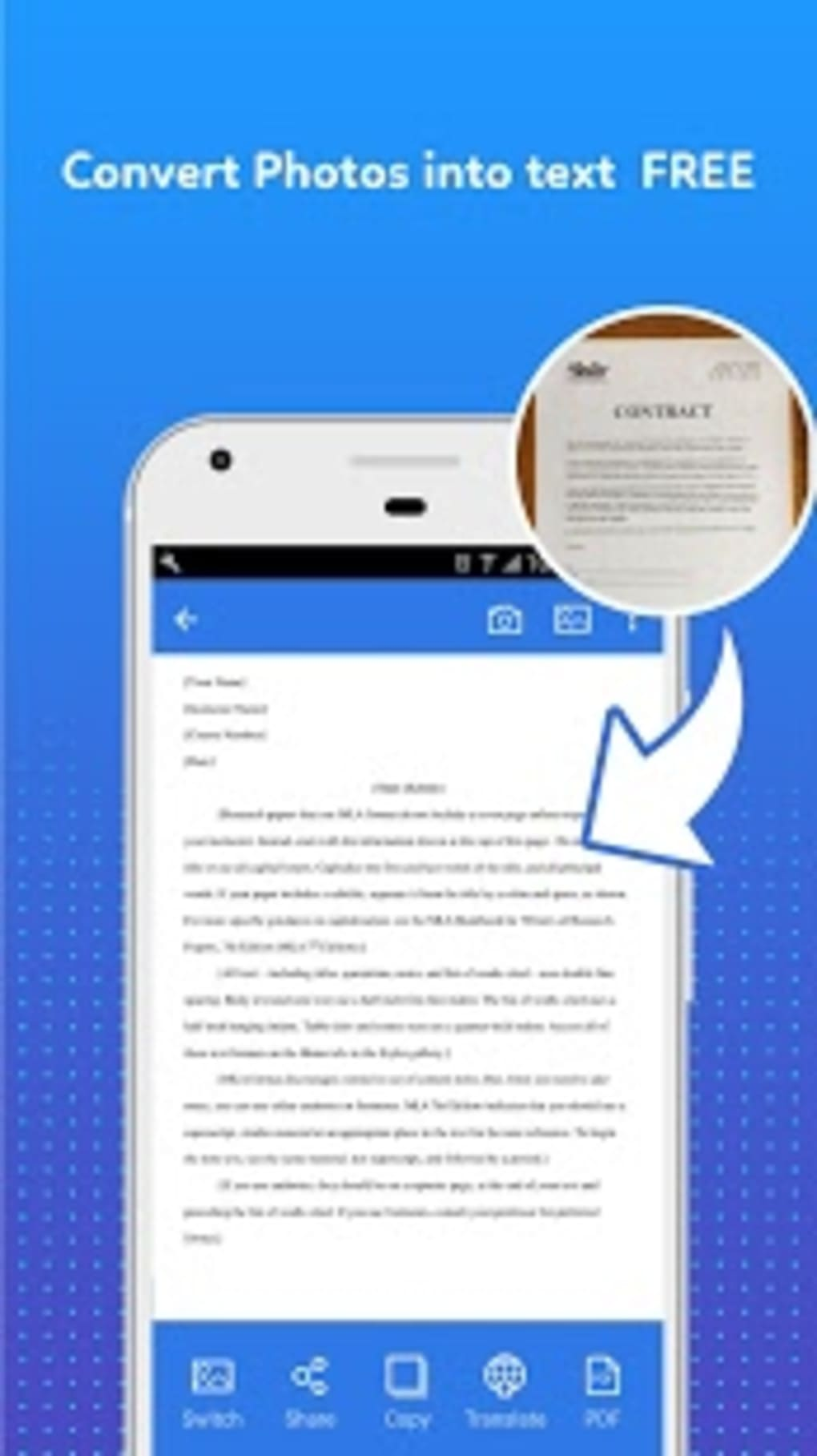 Photo to text converter android