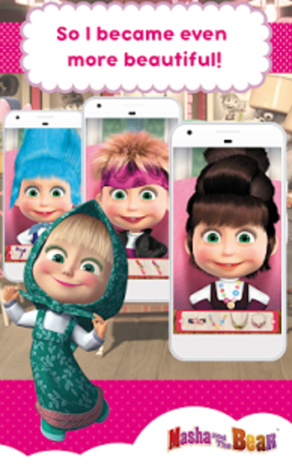 Masha and the Bear: Hair Salon and MakeUp Games for Android