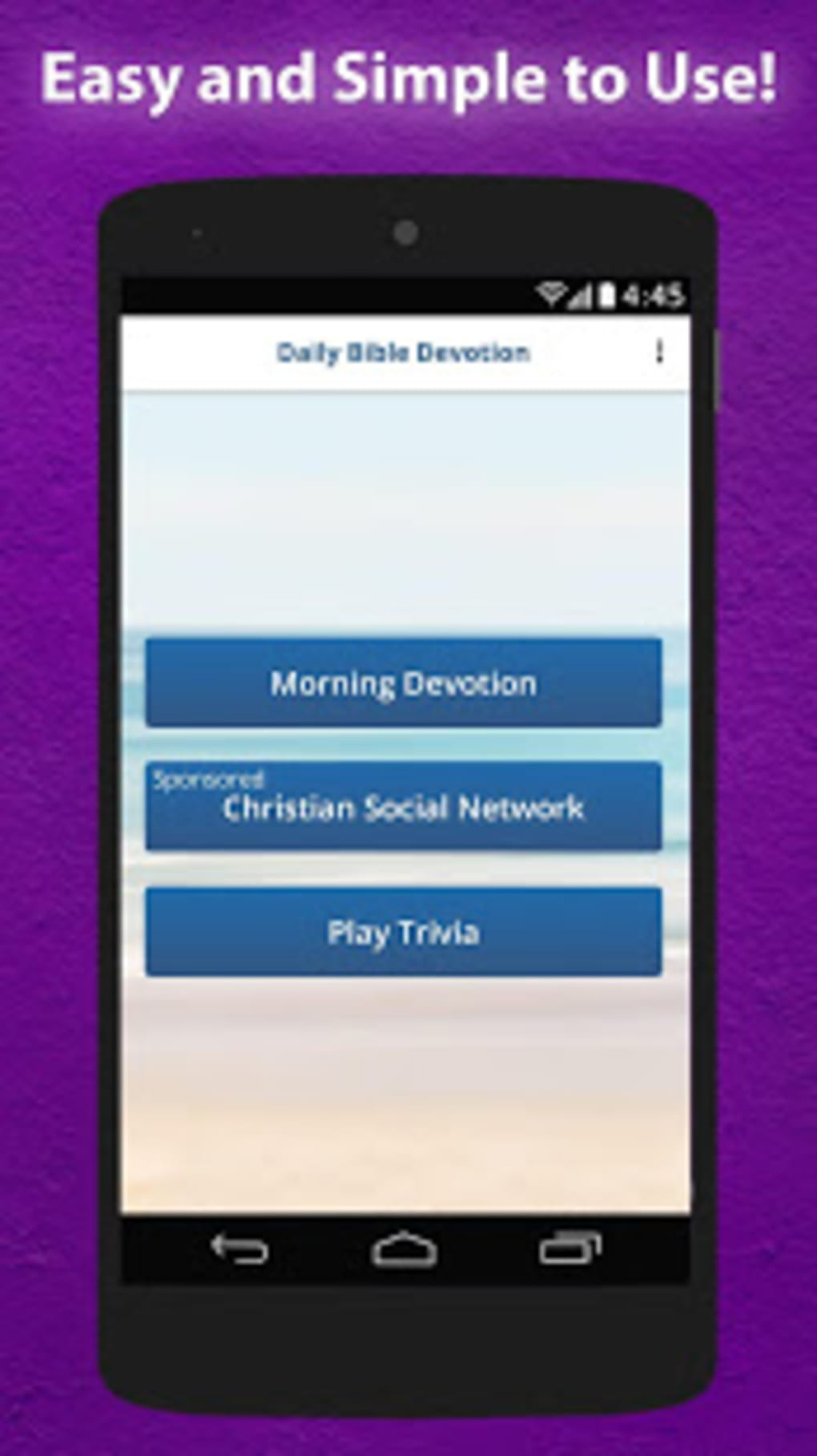 Daily Bible Devotion Bible App Caller ID Screen for Android - Download