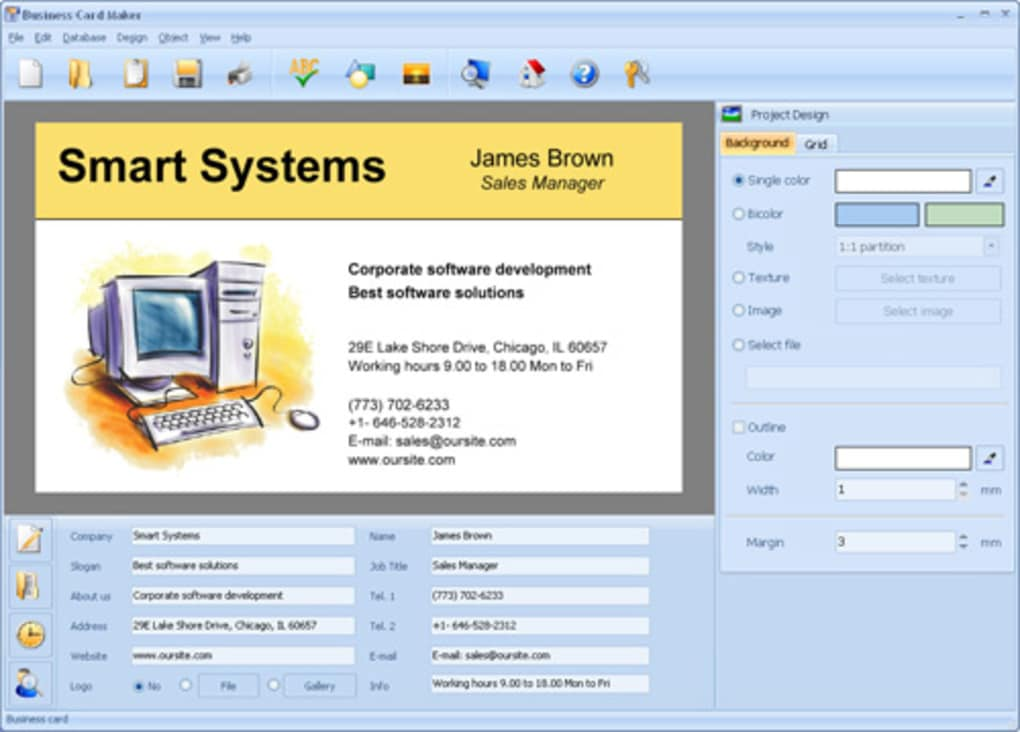 Download Business Card Maker software with 550 templates - oukas.info