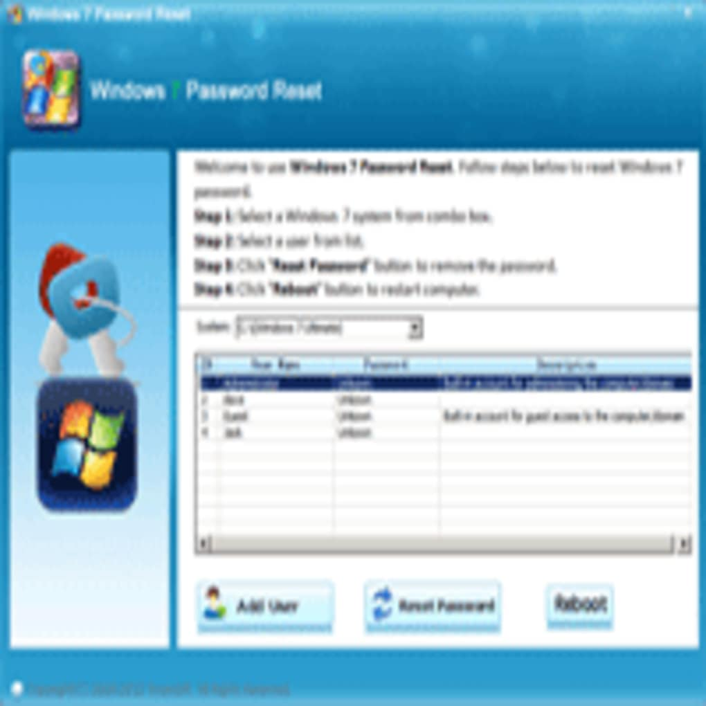 how to reset windows 7 password without losing data