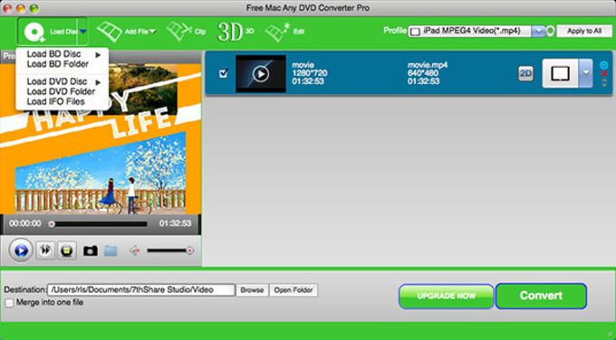 Free Mac Any DVD Converter Pro