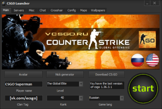 Counter Strike Global Offensive Launcher