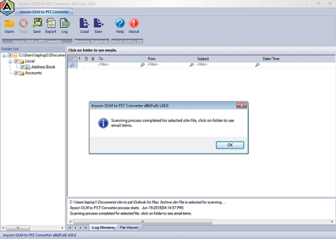 Convert OLM to PST for Windows Outlook