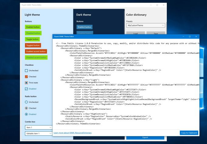 Fluent XAML Theme Editor