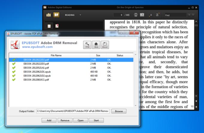 Epubsoft Adobe PDF ePub DRM Removal