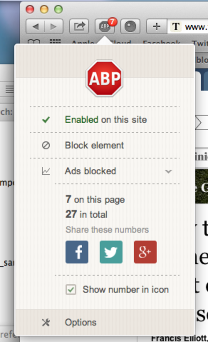 Adblock Plus voor Safari