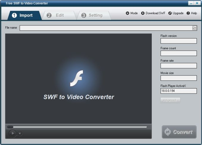 Free SWF to Video Converter