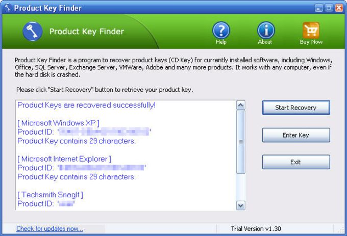 windows product key finder freeware