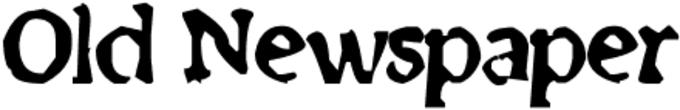 Old Newspaper Font