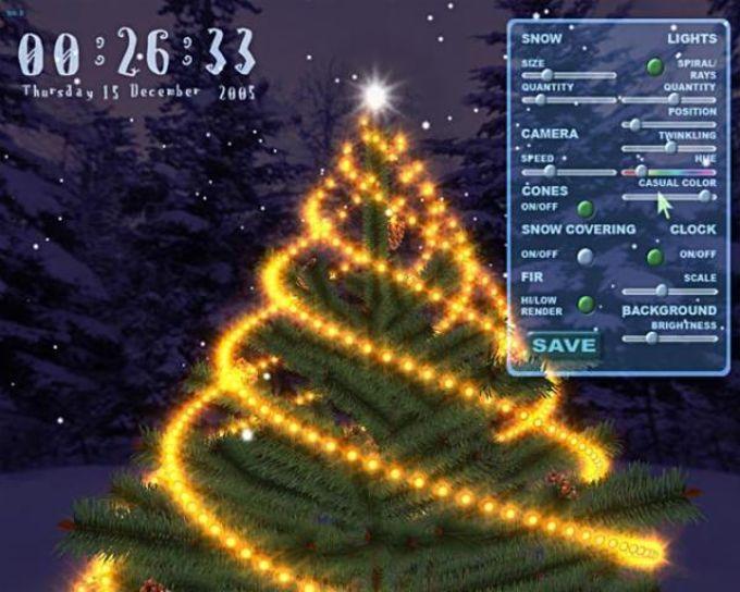 3D Christmas Tree Screensaver - Download