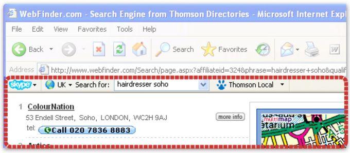 Skype Web Toolbar