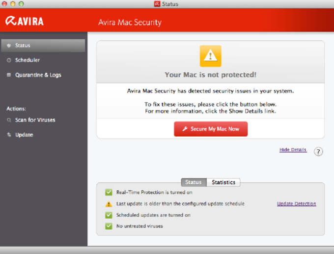 Avira Free Antivirus for Mac