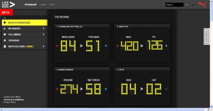 Life Scoreboard