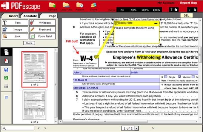 PDFescape Editor