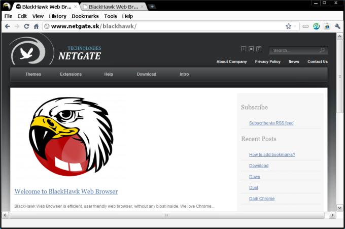 BlackHawk Web Browser