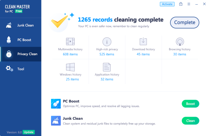 clean up pc free software