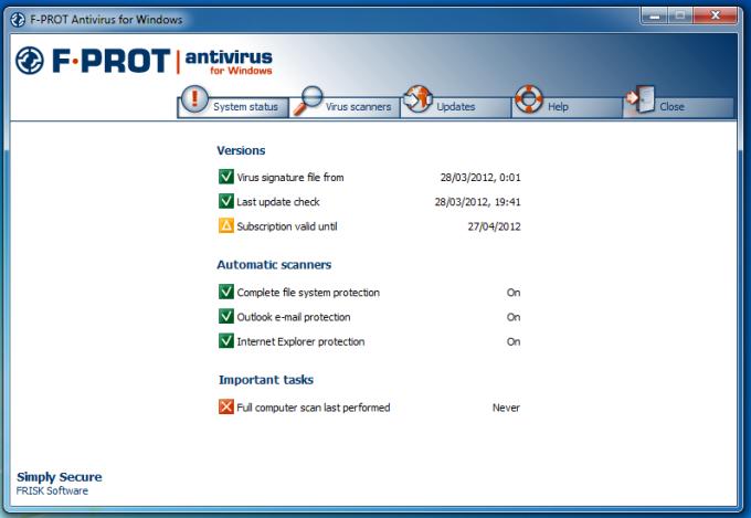 F-Prot Antivirus for Windows