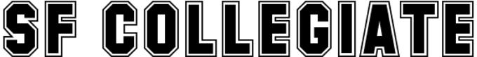 SF Collegiate Font