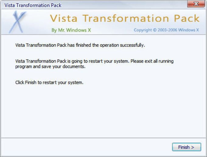 Vista Transformation Pack