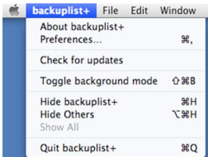 Backup List+