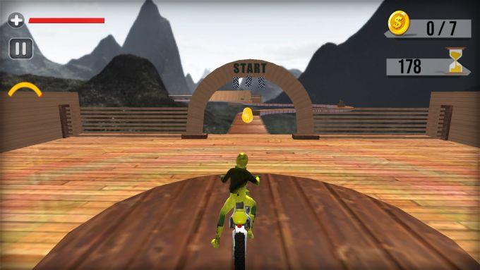 Motor Track Impossible Stunt