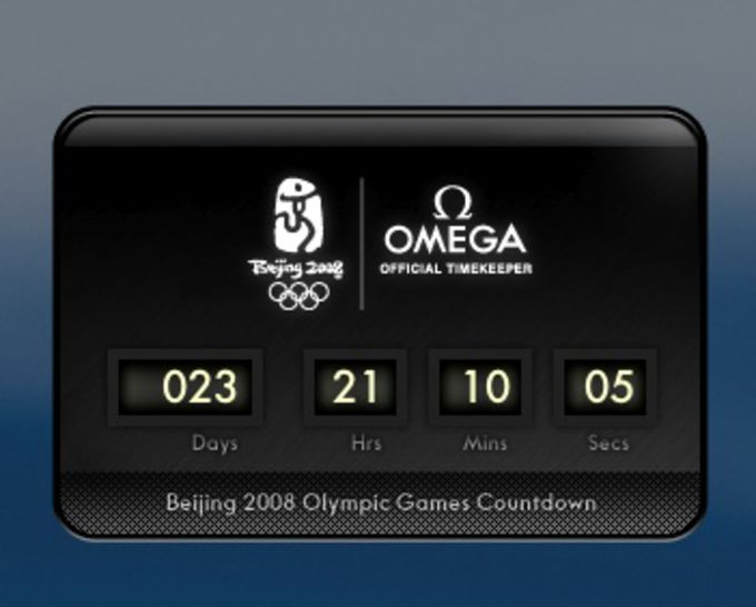 Beijing Olympic Games Countdown