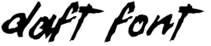 Daft Font Font