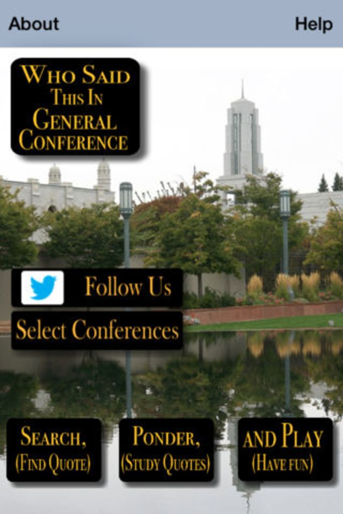 Who Said This in Conference (LDS GEN CONF)
