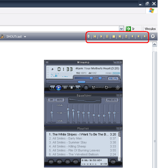 Winamp Toolbar