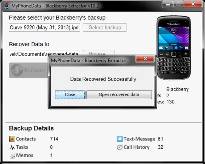 Blackberry Extractor