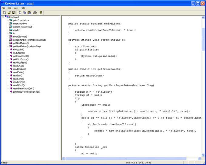 Cavaj Java Decompiler