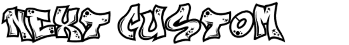 Next Custom Font