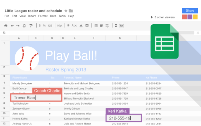 Google Sheets for Chrome