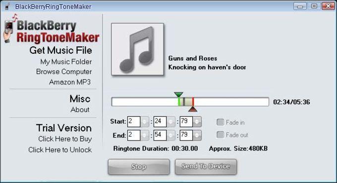 BlackBerryRingToneMaker