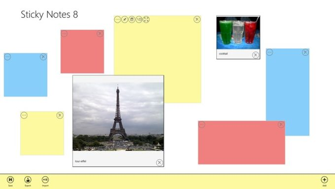 Sticky Notes 8 pour Windows 10