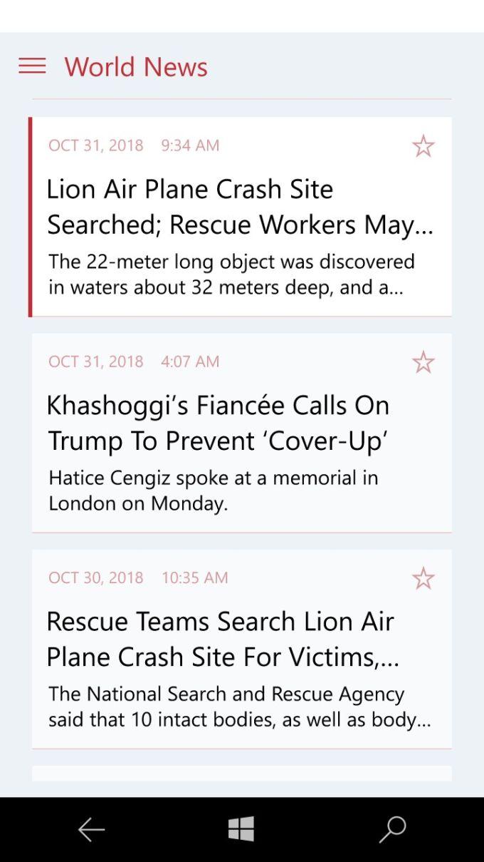 Huffington Post News Reader