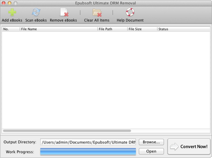 Epubsoft Ultimate DRM Removal for Mac