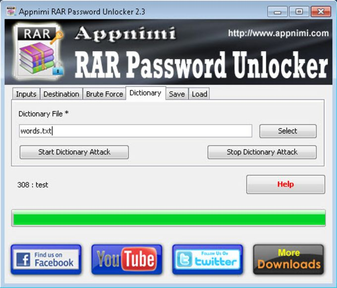 Appnimi RAR Password Unlocker