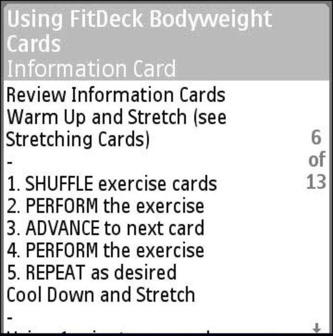 FitDeck Mobile