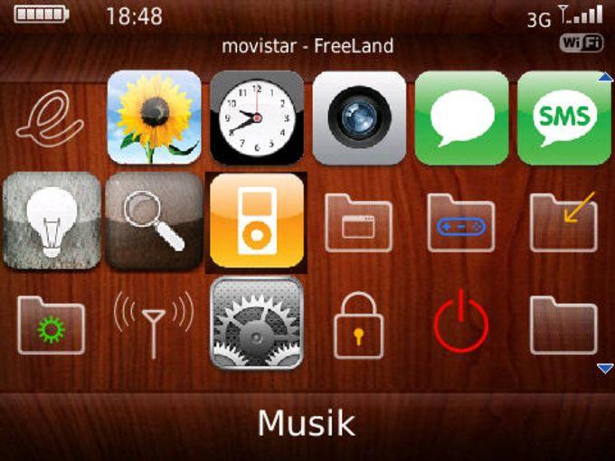 iPhoneish Bold 9700 Theme