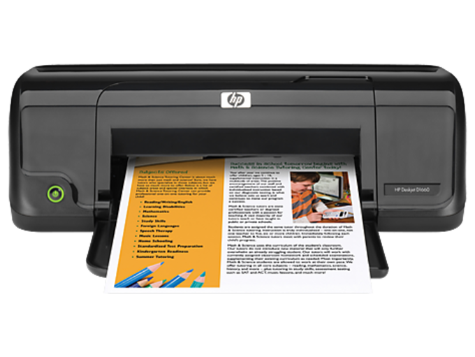 HP Deskjet D1660 Printer drivers