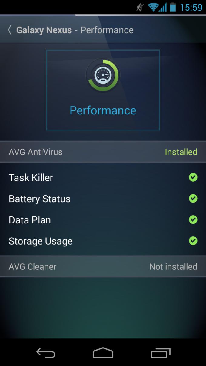 AVG Zen - Admin Console