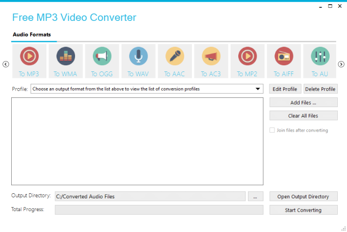 all audio files to mp3 converter free download