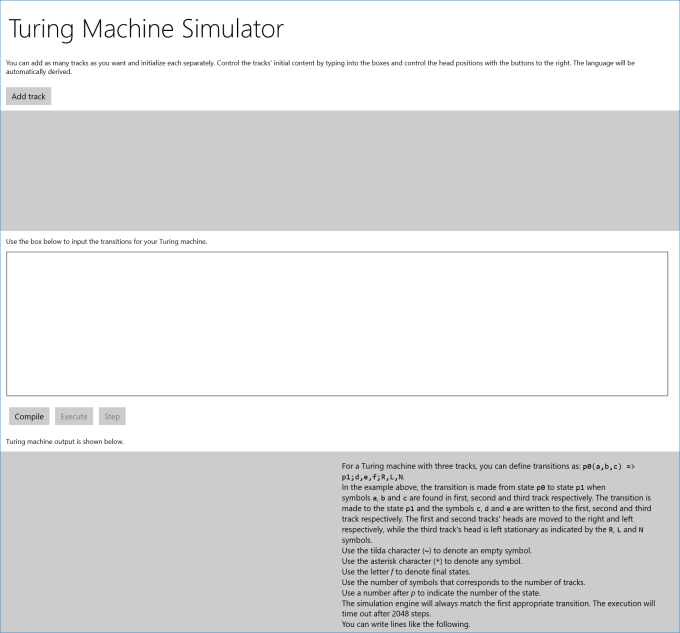 Turing Machine Simulator