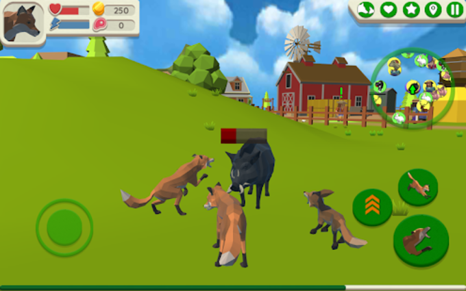 Fox Family  Animal Simulator 3d Game