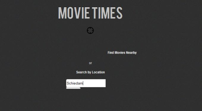 Movie Times Mobile