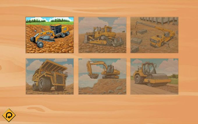 Kids Vehicles Construction Lite toddler puzzle