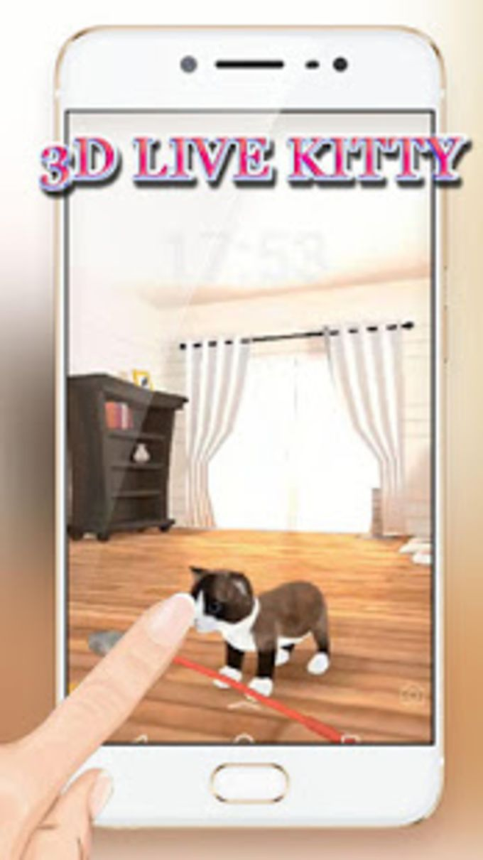 3D Live Cute Kitty Lock Theme