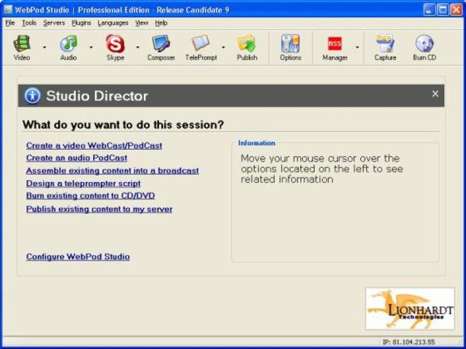 WebPod Studio